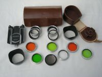 Rolleiflex TLR accessories, including filters and close up lenses