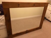 Large 'Rustic Plank' Wall Mirror