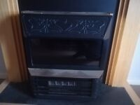 Electric fire place wood pine effect