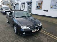 03 PLATE RENAULT MEGANE CONVERTIBLE. LOW MILES. LONG MOT. PX WELCOME