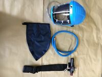 Iwata air fed mask *prestine unused condition*belt and airline included