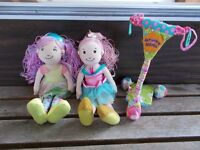2 GROOVEY GIRL RAG DOLLS AND A SCOOTER
