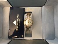 Ladies maurice lacroix watch , mother of pearl diamond dot dial, second hand , excellent condition