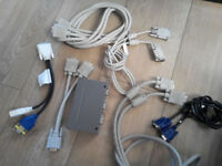 Various VGA Cables + Spliter box