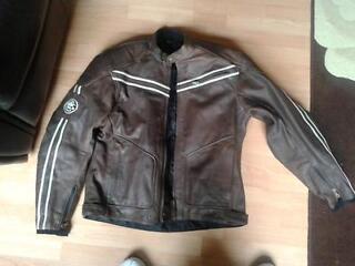 Leather motorcycle jacket - lewis - vintage riders edition ( size - uk 48 )