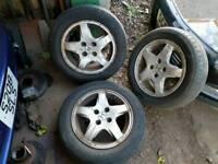 3 r14 4 stud honda civic car alloy wheels / 185 / 60 / r14 tyres