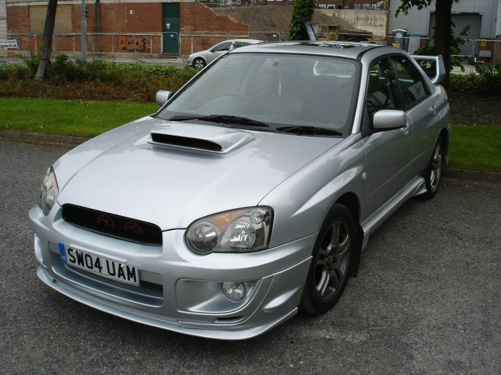 subaru impreza blobeye wrx 2 0 turbo 2004 silver in. Black Bedroom Furniture Sets. Home Design Ideas
