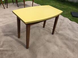 Vintage mustard side table
