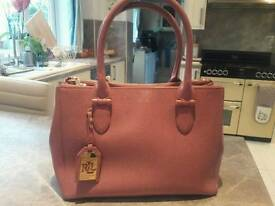 Brand new Ralf Lauren pink bag worth £300