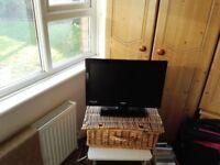 """Portable TV 18"""" excellent condition move forces sale £40"""