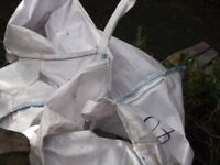 strong canvass builders sack for hiab etc used once free.