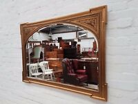 Belgian Over Mantle Mirror (DELIVERY AVAILABLE)