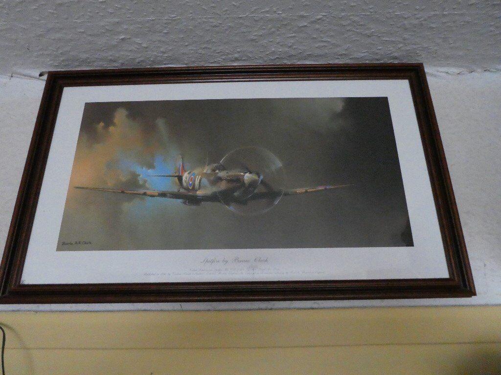 Spitfire framed print and ceramic tankard