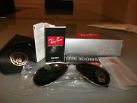 2 Ray Ban Aviator RB3025 004 green 62mm lens, gunmetal frame sunglasses.