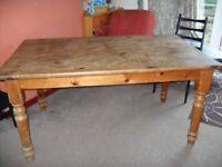 Vintage pine dinning table