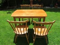 VERY ATTRACTIVE TABLE AND 4 CHAIRS ONLY £60