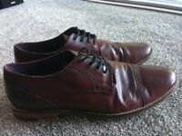 Men's leather dress shoes - burgundy