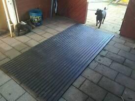 Rubber gym mats