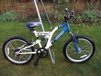 Boys Mountain Mountain Bike 20in Wheel 14in Frame 6 Gears Full Suspension
