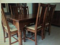 John Lewis Dining Table with 6 Chairs. Very Solid.