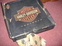 gen gents brown harley davidson boots size 11/12