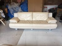 2 leather sofas - 2 seater and 3 seater