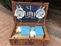 Brixton Wicker Vintage Hamper - unused