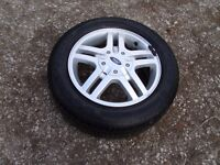 Ford focus alloy wheel and tyre 195/60/15