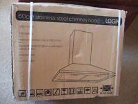 New Boxed Logik Stainless Steel Chimney Hood & Extractor Fan L60CHDX13