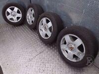 """VW Golf (1997-2003) 15"""" 4x Alloy Wheels + Tyres 195/65 R15 ref.15M20"""