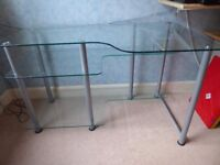Glass desk - silly price - just need rid!