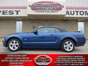 2008 Ford Mustang GT CONVERTIBLE, HEATED LEATHER, SHAKKER SOUND,