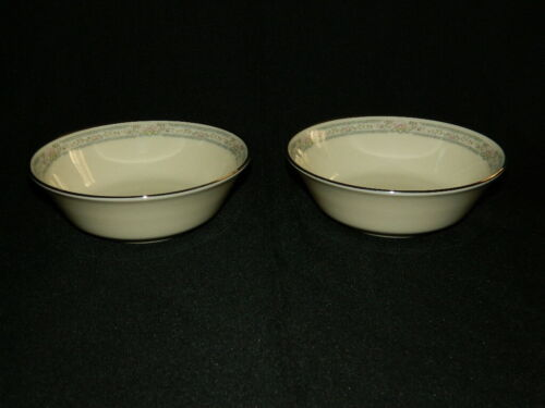 "2 Lenox Charleston Individual Salad Dessert Fruit Bowls 5 3/4"""