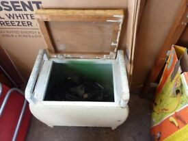 Vintage old collectible retro restorable useable bathroom, bedroom, chair stool with storage,