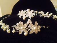 Wedding tiara accessories. 2x hair accessories for bridesmaid or bride