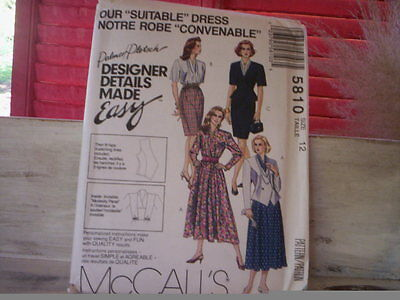 Jacket Dress pattern/McCALL'S patterns/Misses lined jacket and dresses pattern