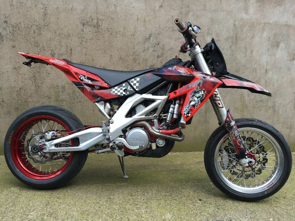 aprilia sxv 550 supermoto full mot not rxv mxv 450 ktm honda cr250 cr500 in aspatria cumbria. Black Bedroom Furniture Sets. Home Design Ideas