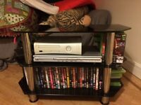 TV Stand - £20 (Black Glass & Chrome)