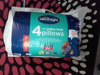 4pk silentnight pillows new