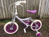 Girls Bike - 3-4 Years Old, with Stablisers