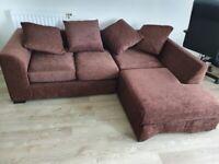 Give away: 3 seater chaise sofa, bookshelf, shoe rack