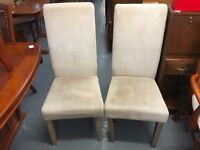 SET OF SIX DINING TABLE CHAIRS
