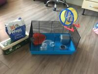 Hamster starter kit - small hamster cage almost new