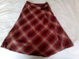 Ladies' assymetric winter skirt size 10
