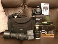 Nikon D3300 DSLR Camera + accessories