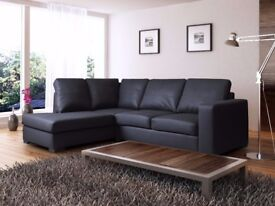 * THE BLACK FRIDAY DEALS* Modern design westpoint leather corner sofa, in black, brown,cream or red