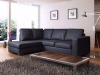 * THE BLACK FRIDAY DEALS* Modern design westpoint leather corner sofa, in black, brown,cream or red