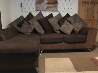 Excellent Naples chaise sofa and matching footstool