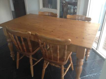 Small kitchen table and 4 tub chairs | Dining Tables | Gumtree ...