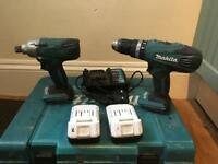 Makita 18v combi drill and impact driver set